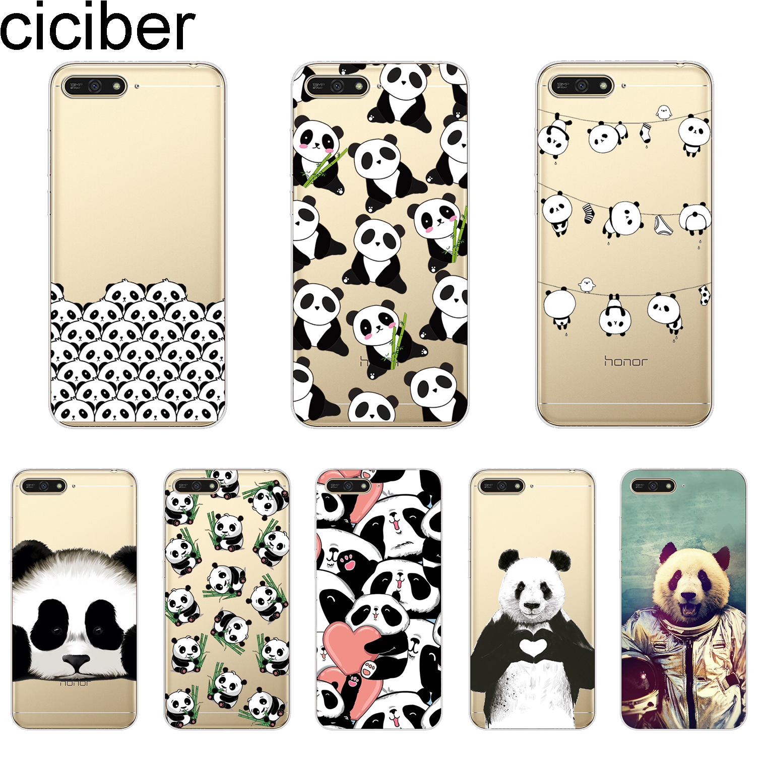 Fitted Cases Cellphones & Telecommunications Ciciber Cover For Huawei Y9 Y7 Y6 Y5 Y3 Prime Pro 2018 2017 2019 Phone Cases Soft Tpu Cute Animal Pandas Shell Coque Capa Activating Blood Circulation And Strengthening Sinews And Bones