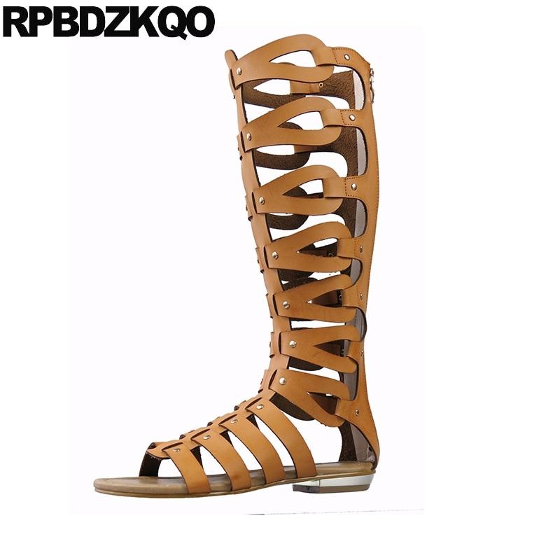 Girls Summer Fashion Open Toe Flat Strappy Gladiator Sandal