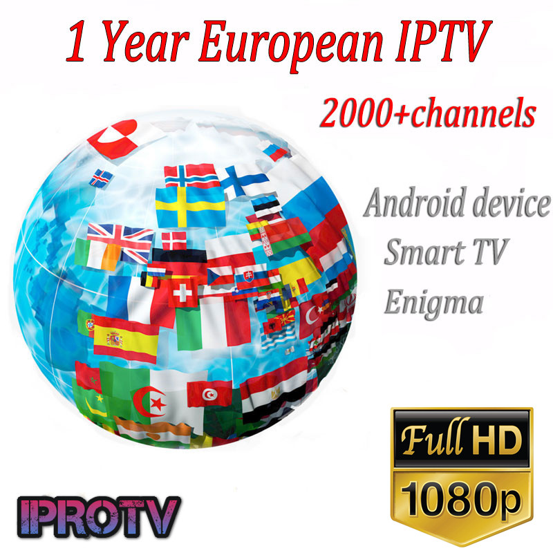 IPROTV 1 Year Europe French Arabic Belguim Africa Channels IPTV 2300 TV Channels For M3u Android