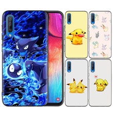 Black Silicone Case Bag Cover for Samsung Galaxy M10 M20 M30 S8 S9 S10 S10e 5G J3 J4 J5 J8 Plus 2018 S7 Edge Pokemons PokeBall(China)