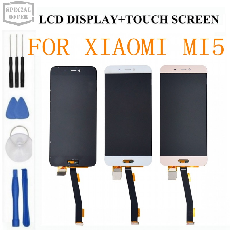 high quality 100 fit for xiaomi mi5 LCD display Touch Screen Assembly For Xiaomi 5 Display