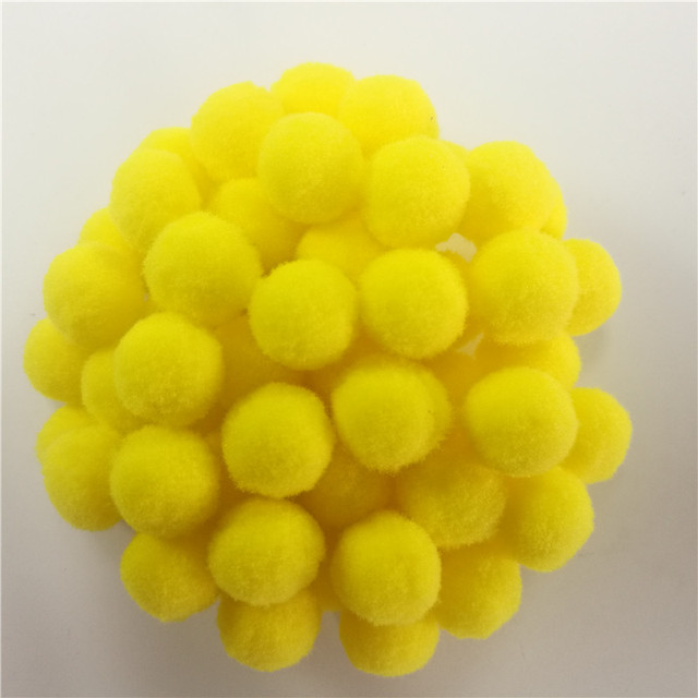 188ps 15mm round yellow color pom poms balls diy crafts pompom for 188ps 15mm round yellow color pom poms balls diy crafts pompom for kids wedding home decoration mightylinksfo
