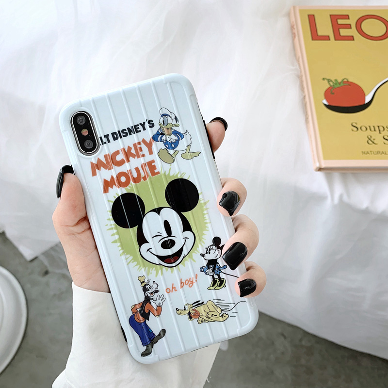 Cute <font><b>Mickey</b></font> Pattern Phone Case For <font><b>iphone</b></font> X XR XS Max Case For <font><b>iphone</b></font> <font><b>6</b></font> 6s 7 8 plus Back Cover Fashion Cartoon Soft Cases <font><b>Coque</b></font> image