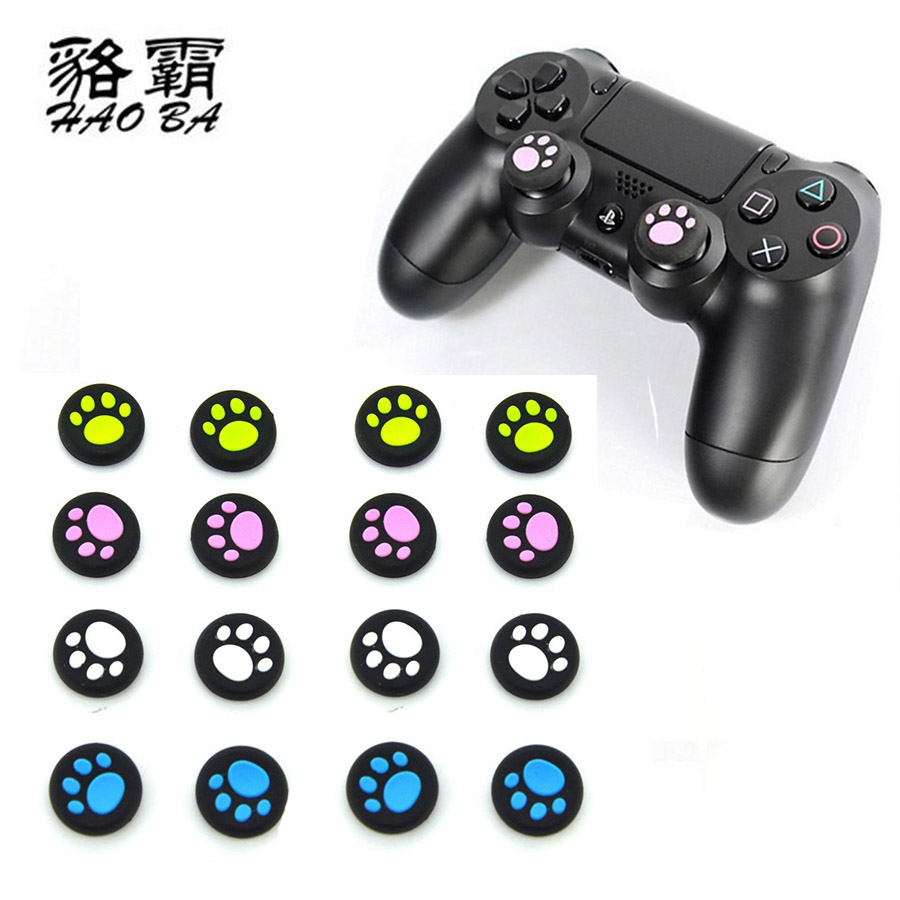 HAOBA 10pcs Skull Head for ps3 Silicone Analog Thumb Stick joystick silicone Cap For PS4 Analog Grip For Xbox one Controller