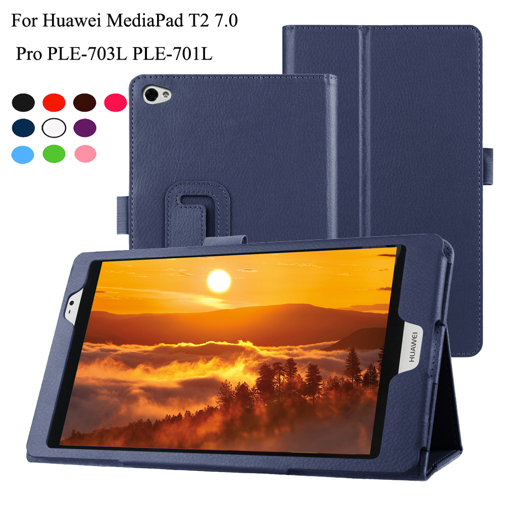 PU Leather Case For Huawei Mediapad T2 7.0 Pro Cover For PLE-703L PLE-701L 7 Inch Tablet