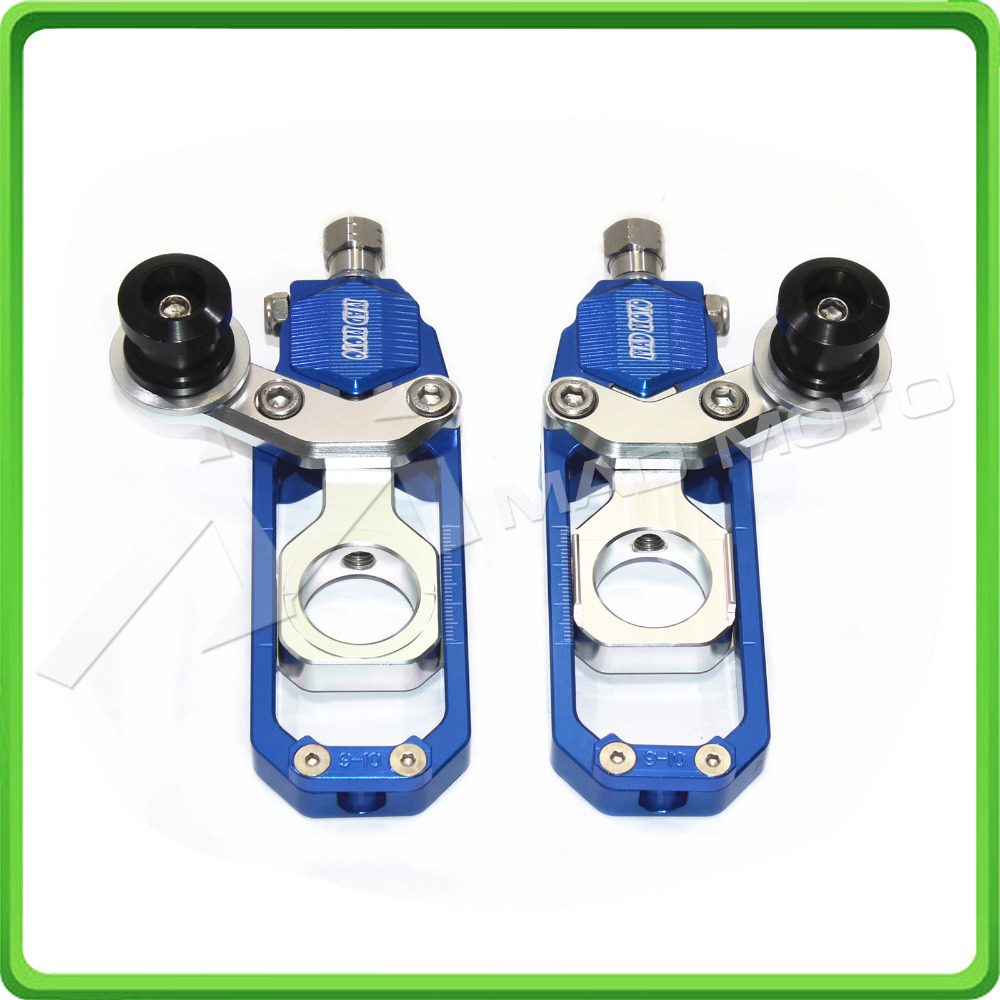 Us 76 49 Motorcycle Chain Tensioner Adjuster With Bobbins Fit For Honda Cbr 600 Rr Cbr600rr 2005 2006 2007 2008 2009 2010 Blue Silver In Chain