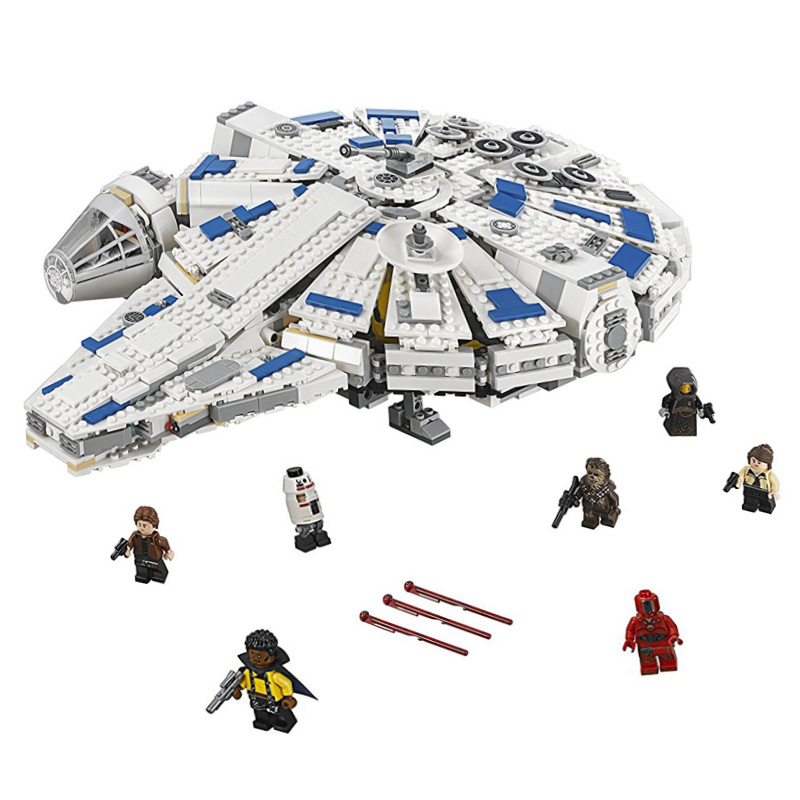Star Play Wars Solo: Story Kessel Run Millennium Falcon Compatible with Legoeds 75212 Building Kit Block Toys for Children simple style solid color hollow out spiral ring for women