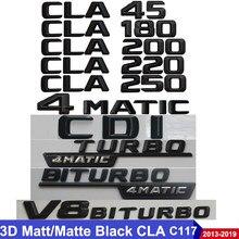 Emblema automotivo 3d c117 cla, emblema, cla45, 200, cla220, 250, automóvel turbo, logotipo benz amg