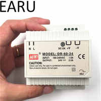 Din rail power supply 60w 24V power suply 24v 60w ac dc converter dr-60-24 good quality OEM