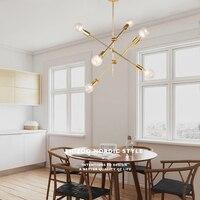 Vintage Chandelier Indoor Lamp LED Iron Gold Metal Bar Coffee Shop Modern Dining Ceiling Decoretion Lighting Fixture AC110 265V