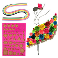 W DIY Paper Quilling Tools Template Slotted Pen Tweezer Strips Bead Needles Glue Bottle Paper Crafts