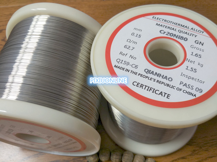 1PCS/10meters YT2173 Nichrome wire Diameter 0 5MM-1 2MM Cr20Ni80 Heating  wire Resistance wire Alloy heating yarn Mentos