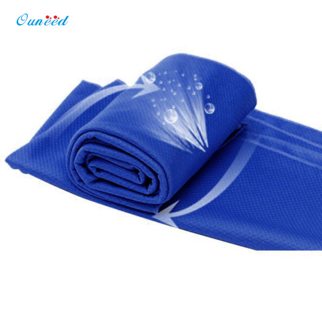 Best Offers Ouneed Soft Microfiber 90 * 35cm Cold Sensation Towel Fast Dry Towel Cold Sensation Beach towel Drying Travel Sports Body Towel