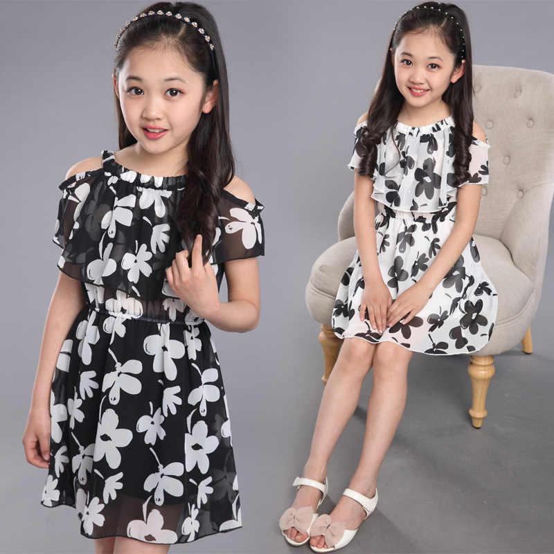 十代の少女のドレス夏 2019 子供の服の子供の花ドレスシフォンプリンセスドレス年齢 7 8 9 10 11 12 年