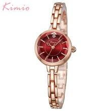 Kimio небольшой набрать моды Повседневное Для женщин часы браслет сплава Наручные часы кварцевые наручные часы Женское платье девушка подарок с коробкой