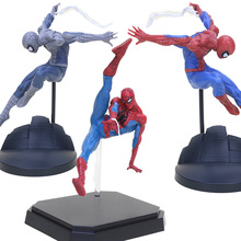 Avengers super hero Spider man toys red/gray Spiderman PVC action figure toys Amazing Spider-man Statue Figure Model toys gift цена
