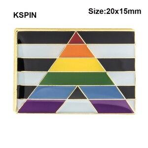 Прямые союзники значок металлические значки декоративная брошь булавки для брошь для одежды Ювелирные изделия XY0152