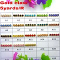 High density 5 yards/Roll Gold base claw ss6 2mm SS8 2.5mm SS10 2.8mm SS12 3mm rhinestone cup chain Sew On glue on diy trim