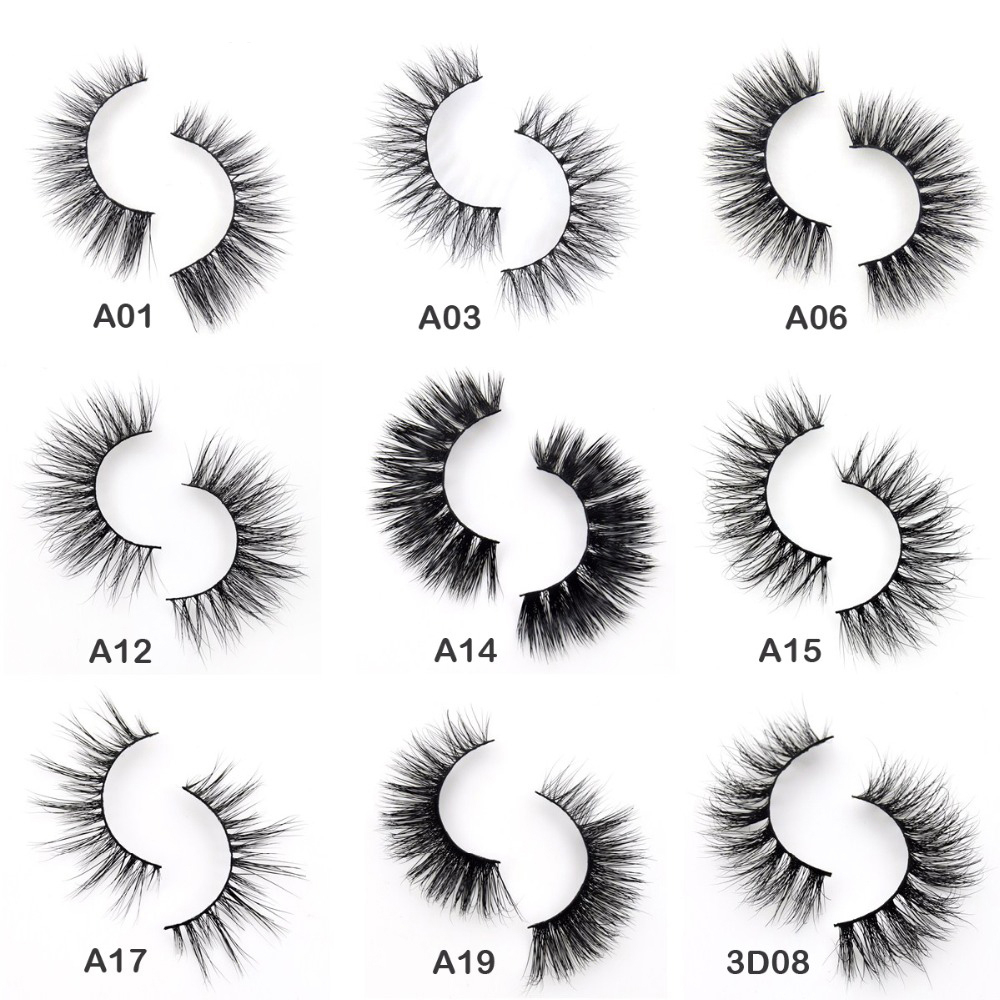 Visofree Eyelashes 3D Mink Eyelashes Crossing Mink Lashes Hand Made Full Strip Eye Lashes 34 Styles Cilios Naturais False Lashes