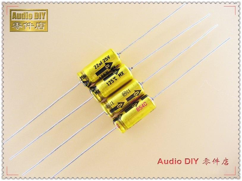 20PCS/100PCS MX Series 22uF 25V 25v22uf  High Temperature Axial Capacitor