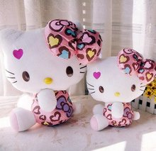 hello kitty Diamond leopard grain,new design,plush toys,40cm size,valentine's day gift,Free-factroy wholesale