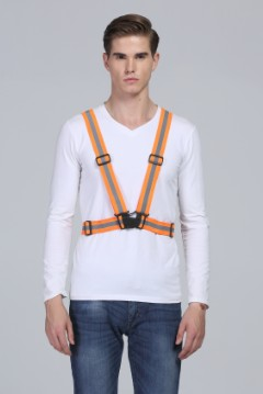 360 Degrees High Visibility Working Warning Waistcoat Outdoor For Running Cycling Vest Harness Reflective Belt Safety Jacket reflective safety vest belt high visibility reflective elasticated strips waistcoat belt for night jogging running cycling