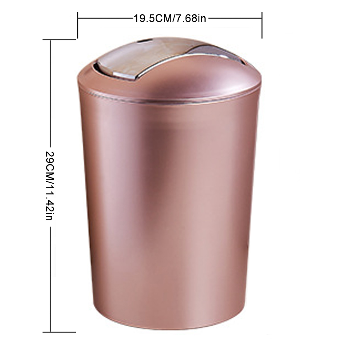Copper Trash Can With Lid Us 18 15 16 Off Hot 6 5l European Style Trash Bin Minicast Garbage Can High Quality Recycling Wastebin With Lid Home Bath Kitchen Decor 2 Colors In
