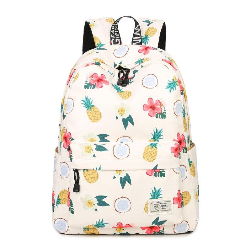 JCPAL Casual Women Backpack Shoulder School Bags Bookbag for Teenagers Girls Laptop Backbag Travel Daypack Mochila Feminina