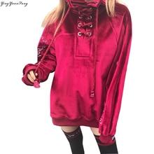Korean version of the women s fashion heavy embroidery velvet collar bandaged fleece sets first Sweatshirts