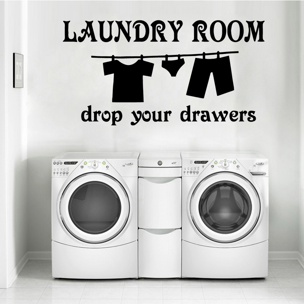 Colorful Laundry Room Wall Stickers Personalized Creative for Living Company School Office Decoration Vinyl