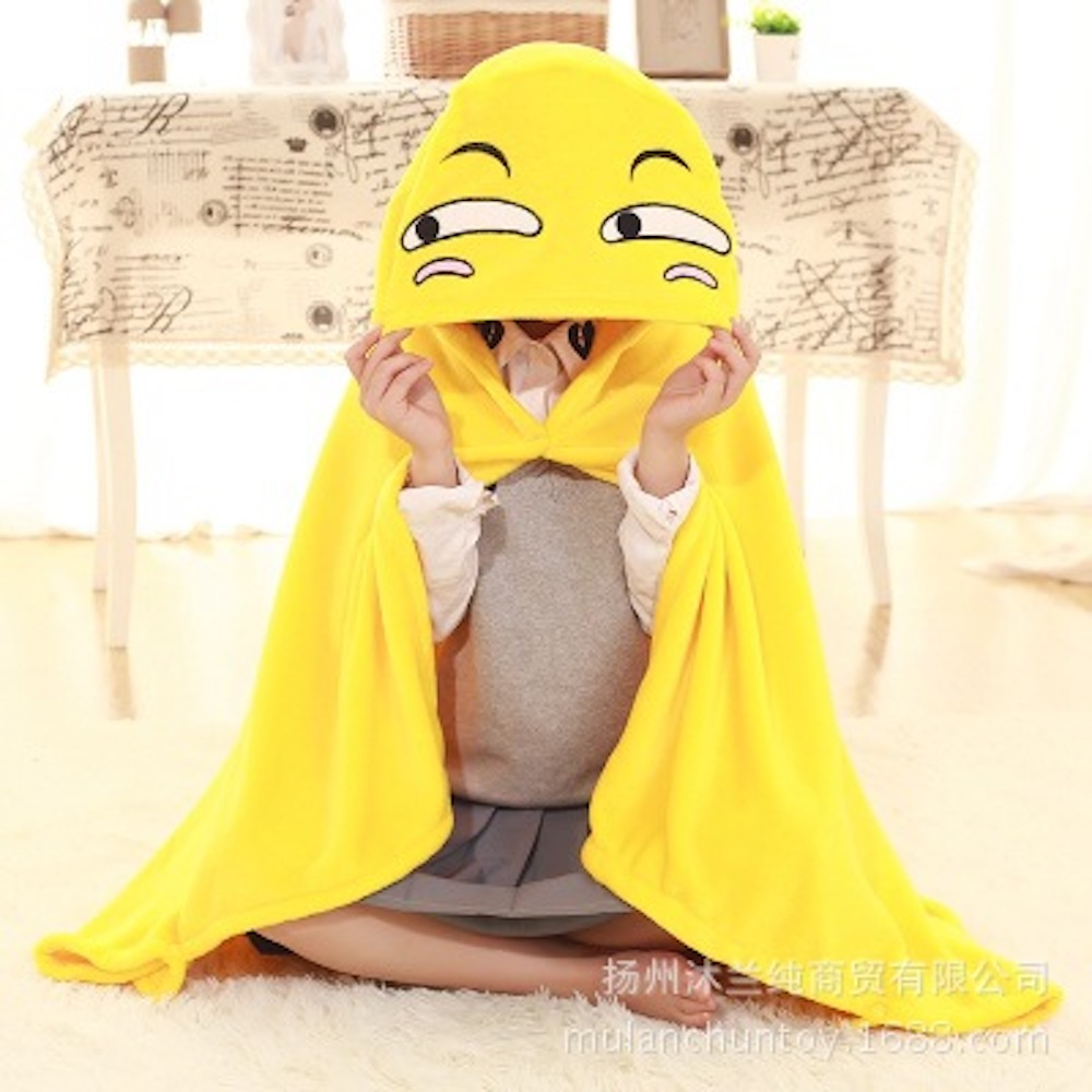 New Original Funny Expression Cloak Nijigen Anime Culture Taunt Manteau Suit For Sleep & Lounge Travel Air Conditioning Blanket