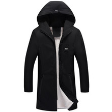 Loldeal Parka Men Coats Winter Jacket Slim Thicken Fur Hooded Outwear Warm  Clothing Casual Medium long plus velvet thick coat цены онлайн