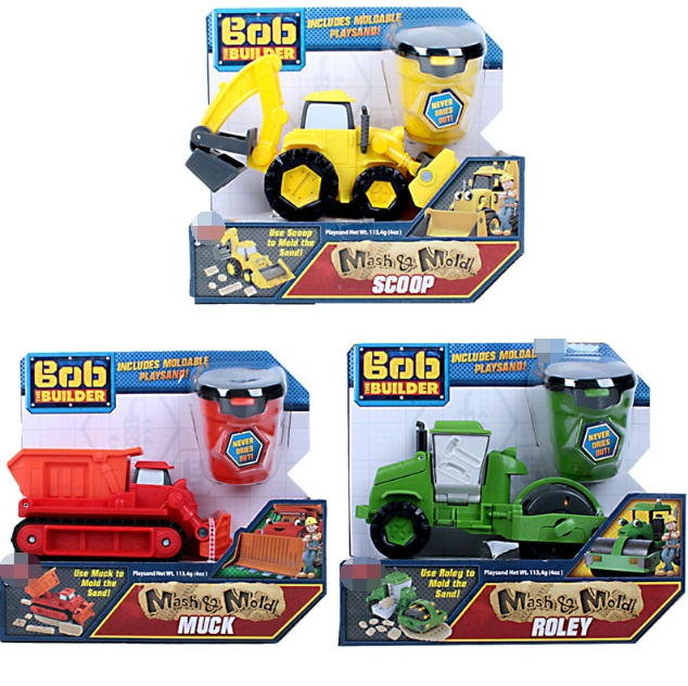 <font><b>16</b></font>*9cm Bob the builder Engineering vehicle machine cartoon PVC trick play sand mash and mold roley scoop muck gift for kids d10 image