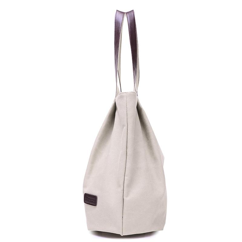 Bolsa de asas de lona de moda bolso de las mujeres bolsas de hombro - Bolsos - foto 3