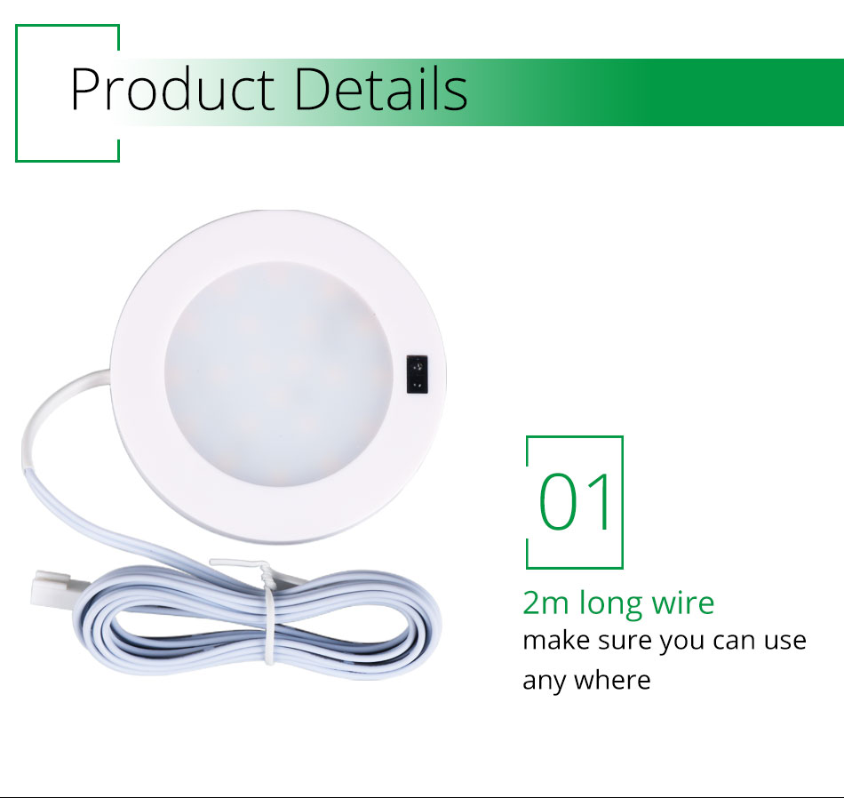 21PCS Under Cabinet Lamps 3W Motion Sensor IR Silver Round LED Puck Counter Led Lights Closet Cupboard Wardrobe Locker Lighting (9)