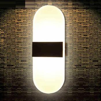 Lámpara de pared LED acrílica de 3 W/5 W/6 W, AC85-220v alimentado para el hogar, escaleras, dormitorio, cabecera, lámpara LED, luz de fondo, decoración, aplique de pared