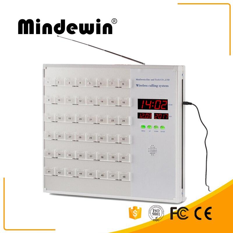 Mindewin Беспроводная Больничная система вызова Беспроводная система вызова медсестры с дисплеем хосты M H 48 система вызова медсестры