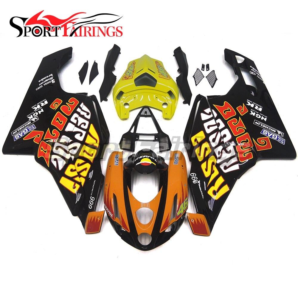 Full Fairings For Ducati Monoposto 999 749 Year 03 04 2003 2004 Motorcycle ABS Plastics Full Fairing Kit Moto Cowling Rossi 46