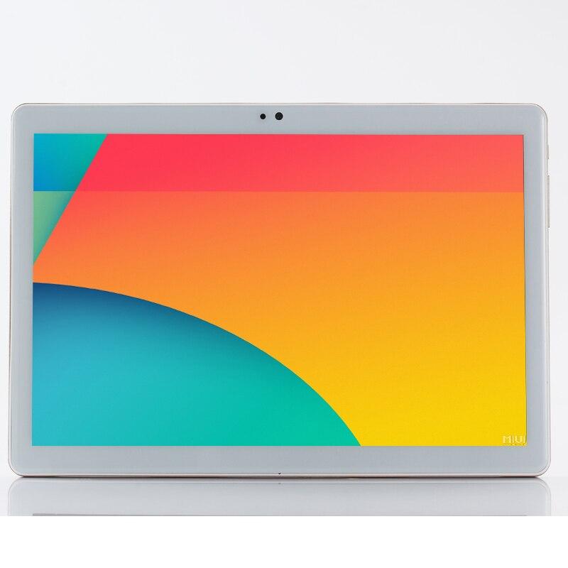 2.5D 10.1 Pouces MediaTek Octa Core MT8752 IPS 4g RAM 32g ROM Cellulaire 2 SIM Téléphone Tablet PC 3g WCDMA 2g GSM GPS WIFI Android 7.0
