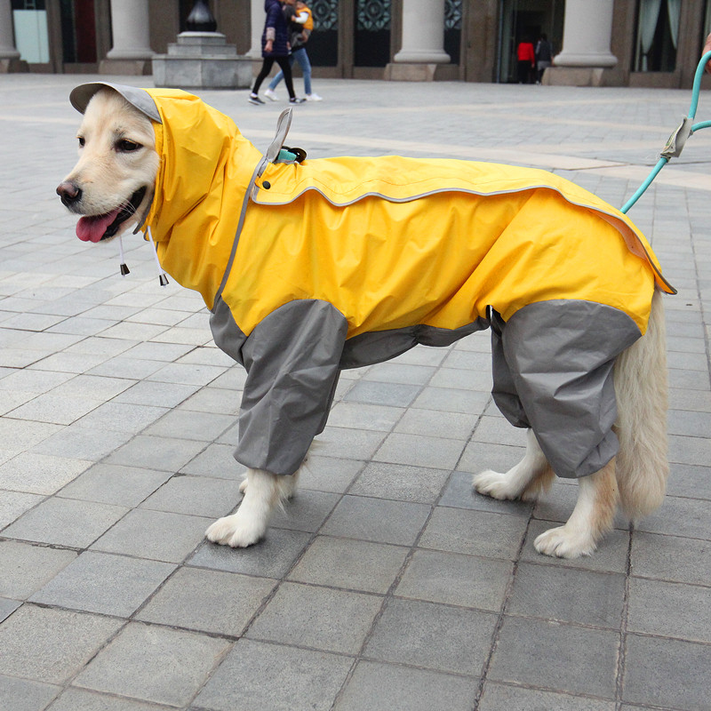 S 7XL Pet Apparel Dog Clothes Dog Raincoat Pet Jacket Reflective Rain Pet Waterproof Coat Plaid Dog Poncho Teddy Raincoat in Dog Raincoats from Home Garden