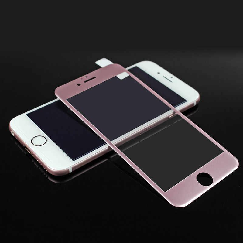 3D полная изогнутый закаленное стекло для iphone 6 углеродного волокна Премиум Настоящее защита экрана Закаленное стекло пленка для iphone 6 6s 7 plus