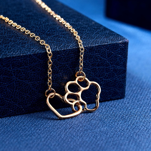 Dog Claw Heart Necklace 3