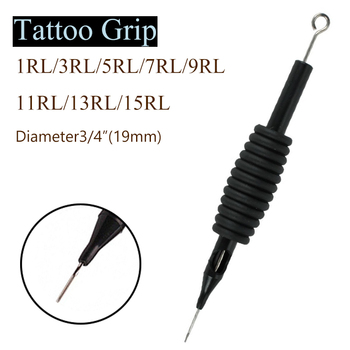 10pcs Tattoo Grip Round Liner 1/3/5/7/9/11/13/15RL Sterile Disposable Tattoo Nozzle Tips Tattoo Needles Body Tattoo Supplies