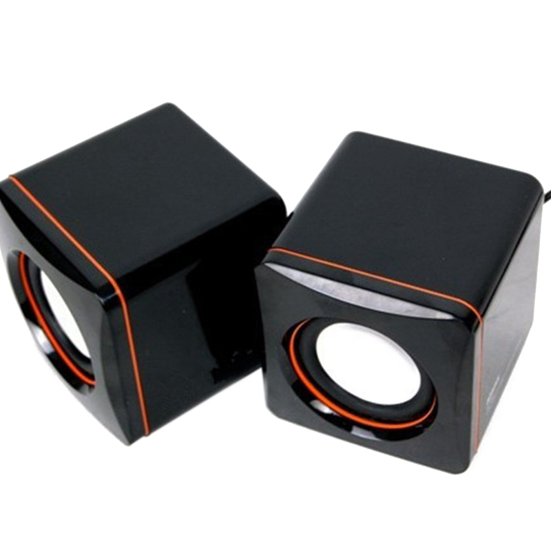 1 Paar Mini Tablet Pc Computer Notebook Lautsprecher Box Usb Wired Desktop Lautsprecher Musik Player 3,5mm Audio Multimedia Lautsprecher