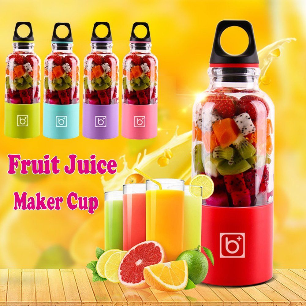 500ML Electric Juicer Cup USB Rechargeable Vegetables Fruit Juice Maker Bottle Juice Extractor Blender Mixer Squeezers Reamers500ML Electric Juicer Cup USB Rechargeable Vegetables Fruit Juice Maker Bottle Juice Extractor Blender Mixer Squeezers Reamers