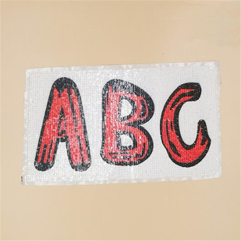 25cm abc diy letters patch deal with it clothes iron on patches for clothing t shirt sequins stickers halloween christmas gifts