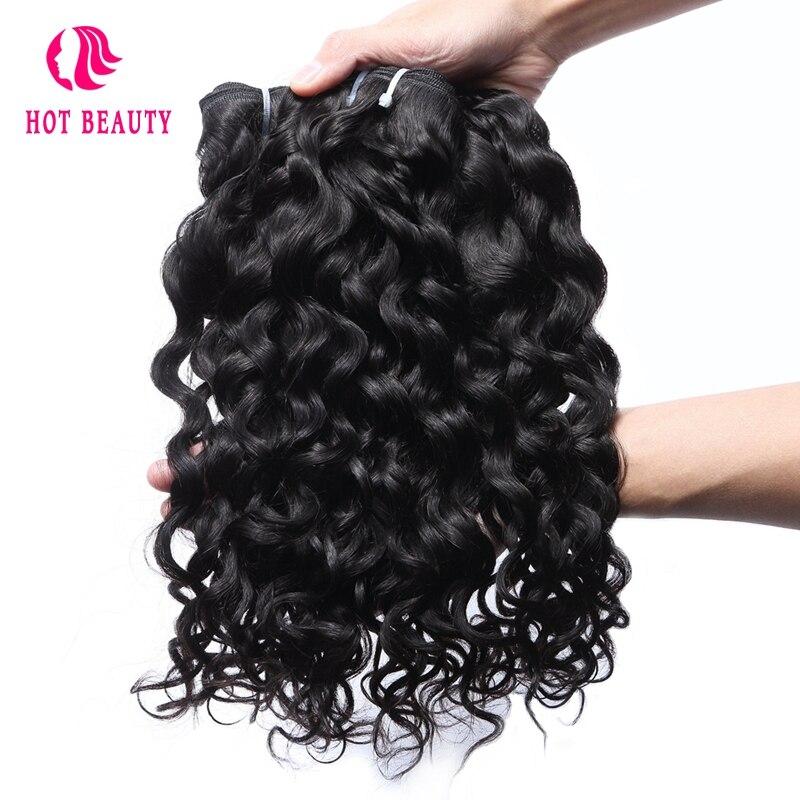 Hot Beauty Hair Brazilian Water Wave Human Hair 3 Bundles Deal 10 28 Inch Hair Weave