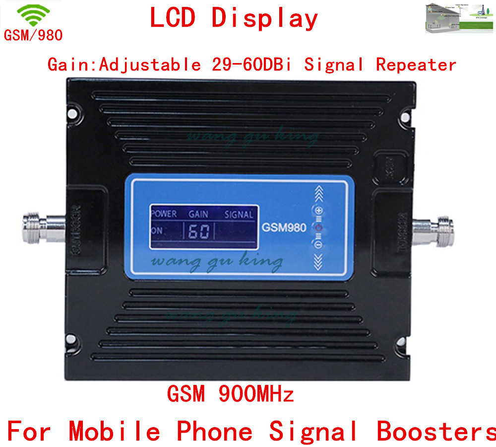LCD Display !!! GSM 900Mhz Mobile Phone GSM980 Signal Booster Cell Phone GSM Signal Repeater Amplifier Gain 29-60dbi Adjustable