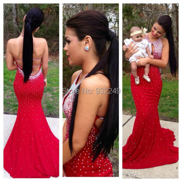 Aliexpress.com : Buy Sexy Red robe de soiree 2016 Sequins Beaded ...