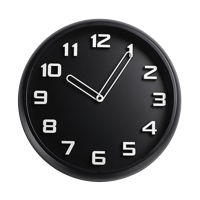 Simple Black White Glass Wall Clock 3D Numerals Silent Beautiful Designer Wall Clock Kitchen Klok Wall Clocks Home Decor 50w364